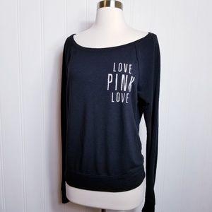 Victoria's Secret Love Pink Lightweight Sweatshirt